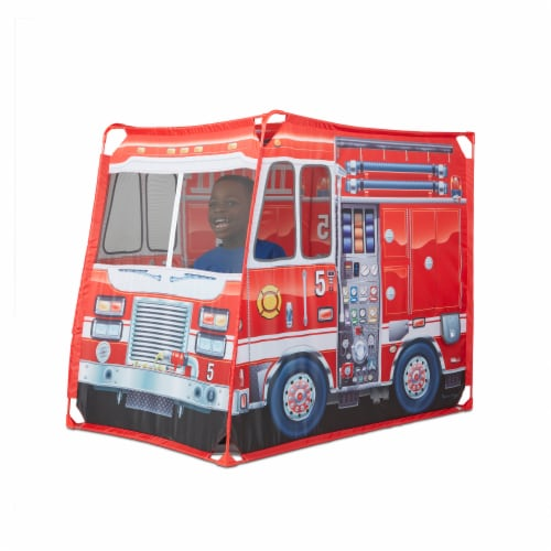Melissa & Doug® Fire Truck Play Tent Perspective: left