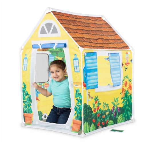 Melissa & Doug® Cozy Cottage Play Tent Perspective: left