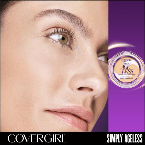 CoverGirl + Olay Simply Ageless 235 Medium Light Foundation Powder Perspective: left