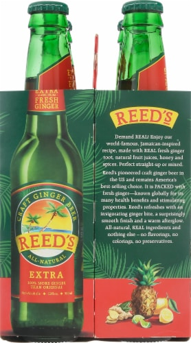 Reed's Extra Ginger Non-Alcoholic Beer Perspective: left