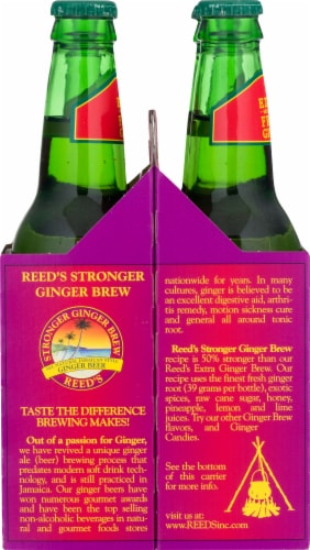 Reed's Stronger Non-Alcoholic Ginger Beer Perspective: left