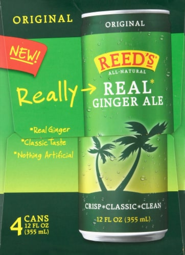 Reed's Original Real Ginger Ale Perspective: left