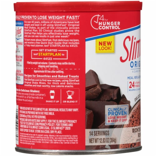 SlimFast Original Rich Chocolate Royale Meal Replacement Shake Mix Perspective: left