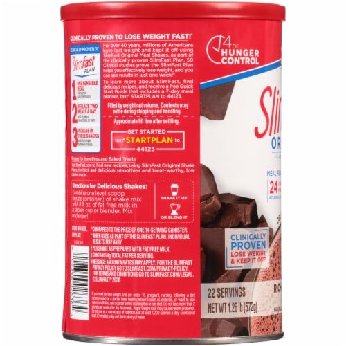 SlimFast Original Rich Chocolate Royal Meal Replacement Shake Mix Perspective: left