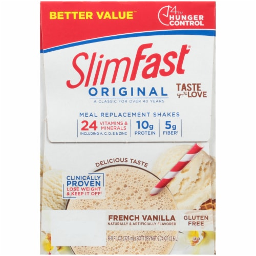 SlimFast Original French Vanilla Meal Replacement Shakes Perspective: left