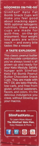 SlimFast Keto Fat Bomb Peanut Butter Cup Snacks 14 Count Perspective: left