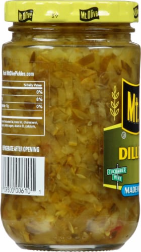 Mt. Olive Dill Relish With Sea Salt Perspective: left