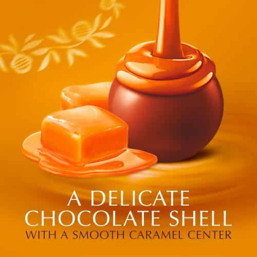Lindt Lindor Caramel Milk Chocolate Truffles Perspective: left
