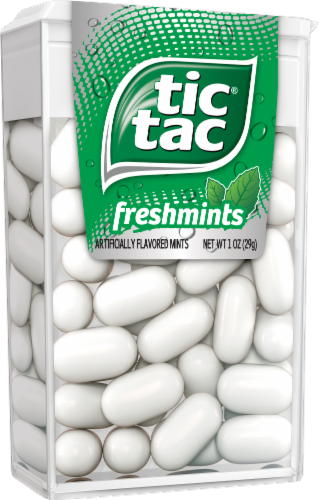 Tic Tac Freshmints Breath Mints Perspective: left