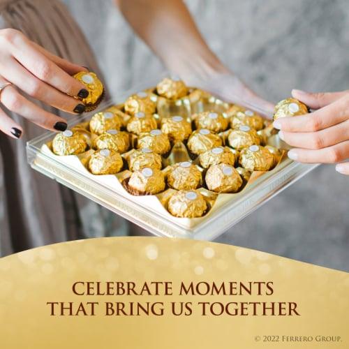 Ferrero Rocher Fine Hazelnut Chocolates Gift Box Perspective: left