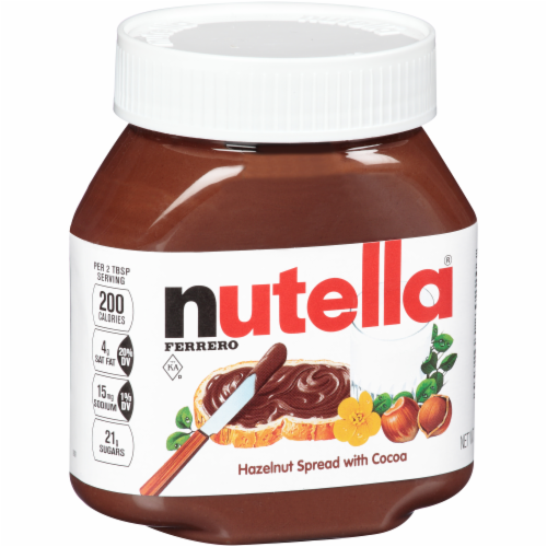 Nutella Hazelnut Spread with Cocoa Perspective: left
