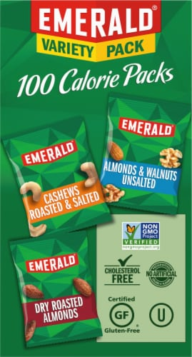 Emerald Almonds Walnuts & Cashews 100 Calorie Variety Packs Perspective: left