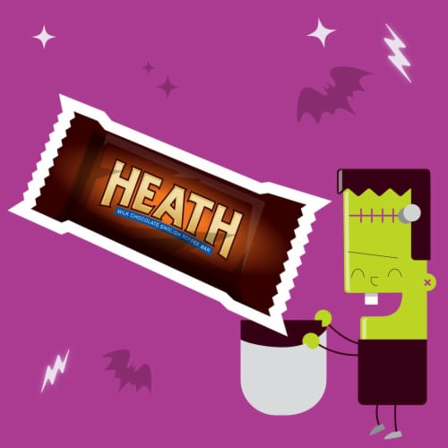 Heath Snack Size Toffee Bars Halloween Candy Perspective: left