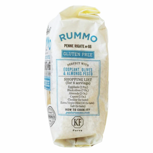 Rummo Organic Chickpea Penne Rigate Pasta Perspective: left