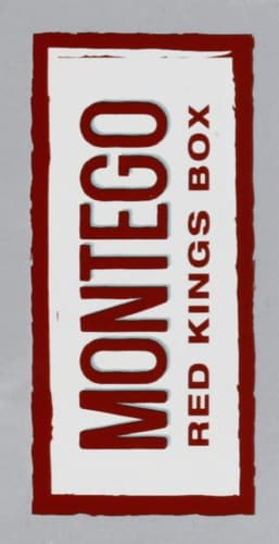Montego Red Kings Box Cigarettes Perspective: left