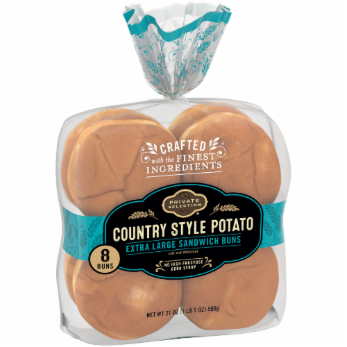 Private Selection™ Country Style Potato Extra Large Sandwich Buns 8 Count Perspective: left