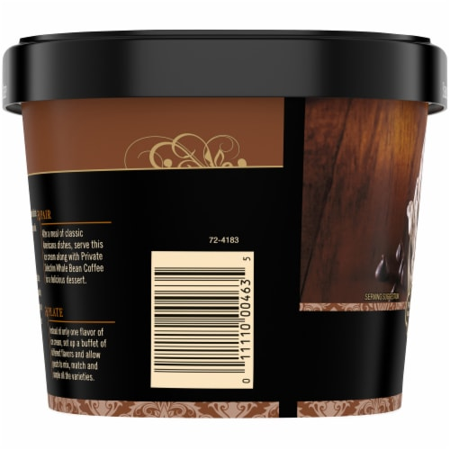 Private Selection® Semi-Sweet Chocolate Chip Ice Cream Perspective: left