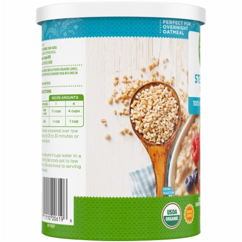 Simple Truth Organic® 100% Whole Grain Steel Cut Oats Perspective: left