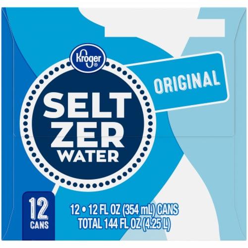 Kroger® Caffeine Free Seltzer Water Perspective: left
