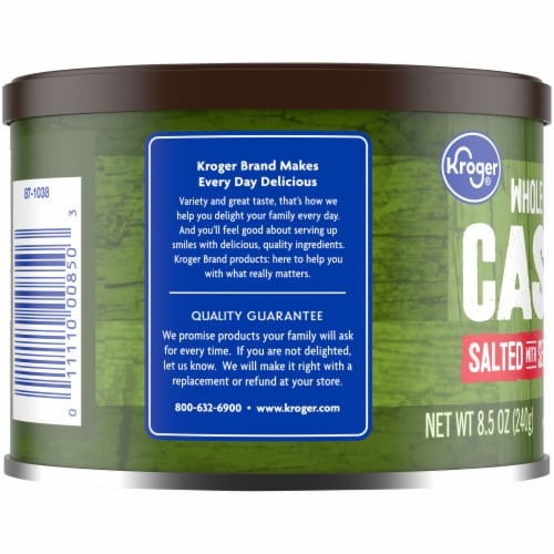 Kroger® Whole Salted with Sea Salt Cashews Perspective: left