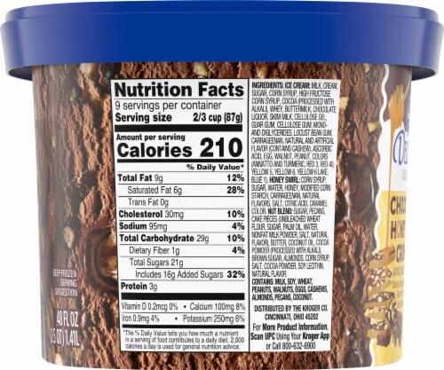 Kroger® Deluxe Chocolate Honey Nut Crunch Ice Cream Perspective: left