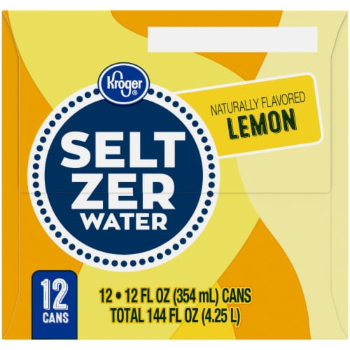 Kroger® Lemon Seltzer Water Perspective: left