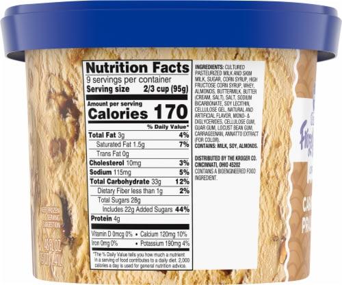 Kroger® Deluxe Caramel Praline Lowfat Frozen Yogurt Perspective: left