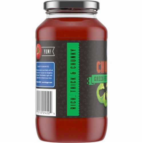 Kroger® Chunky Green Pepper & Mushroom Pasta Sauce Perspective: left