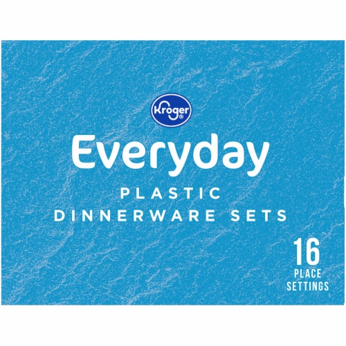 Kroger® Everyday White Plastic Dinnerware Sets Perspective: left