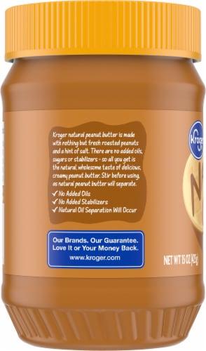 Kroger Natural Creamy Peanut Butter Perspective: left