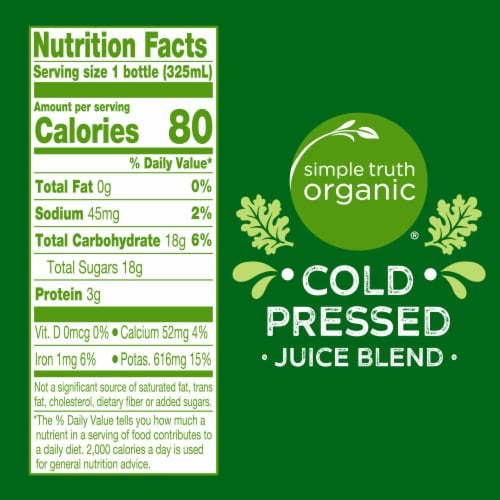 Simple Truth Organic® Citrus Greens Cold Pressed Juice Blend Perspective: left
