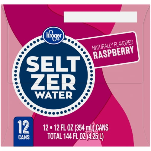 Kroger Raspberry Seltzer Water Perspective: left