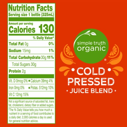 Simple Truth Organic® Citrus Cayenne Cold Pressed Juice Blend Perspective: left