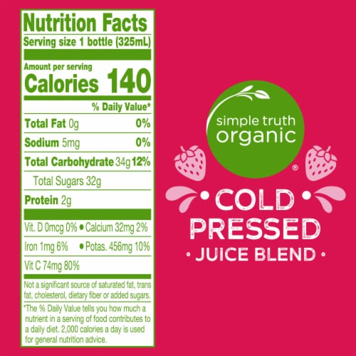 Simple Truth Organic™ Cold Pressed Berry Juice Blend Perspective: left