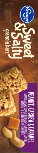 Kroger® Sweet & Salty Peanut Cashew & Caramel Granola Bars Perspective: left