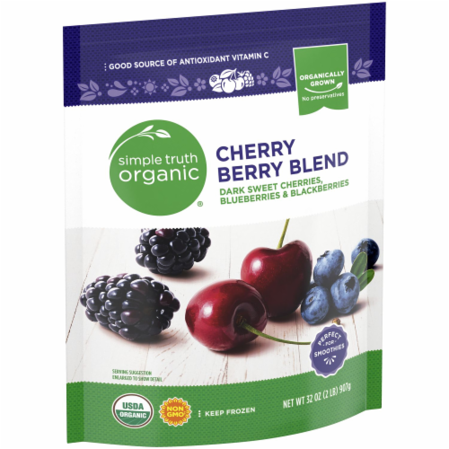 Simple Truth Organic® Cherry Berry Blend Frozen Fruit Perspective: left