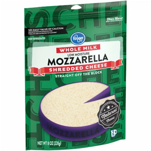 Kroger® Whole Milk Shredded Mozzarella Cheese Perspective: left