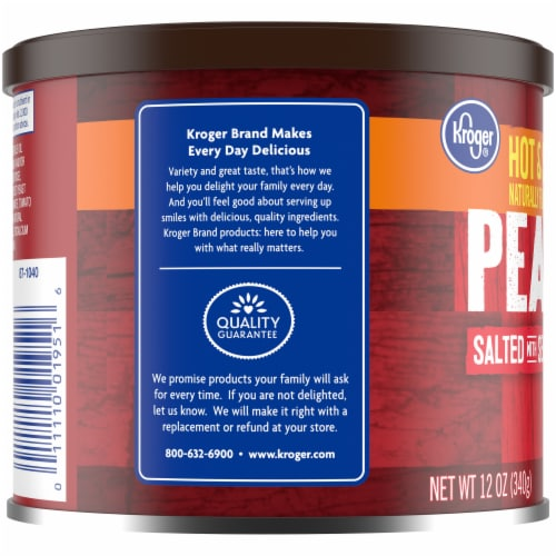 Kroger® Hot & Spicy Peanuts with Sea Salt Perspective: left