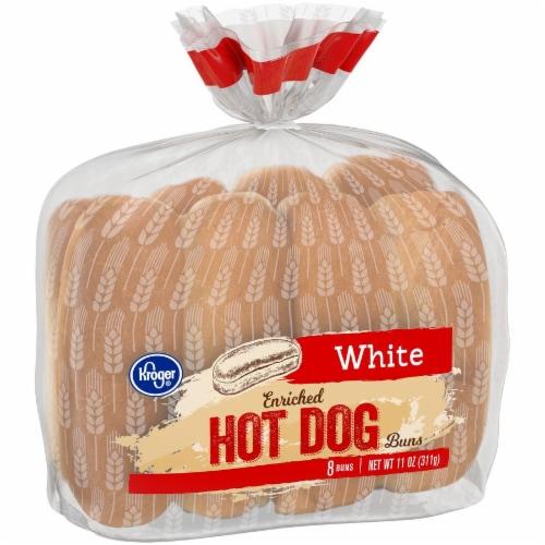Kroger® White Hot Dog Buns Perspective: left
