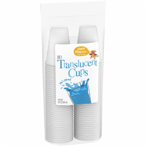 Check This Out™ 9-Ounce Translucent Cups Perspective: left