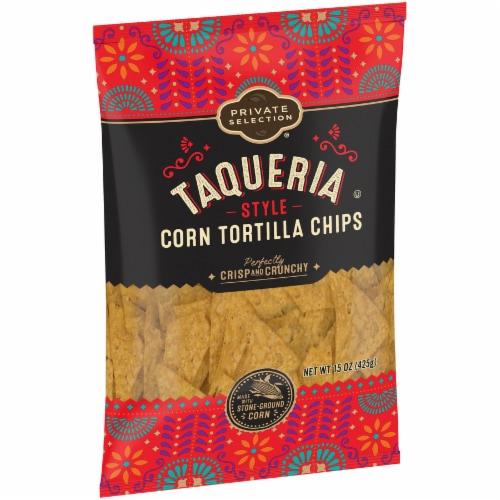 Private Selection® Taqueria Style Corn Tortilla Chips Perspective: left