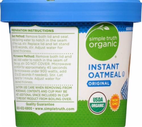 Simple Truth Organic® Original Instant Oatmeal Cup Perspective: left