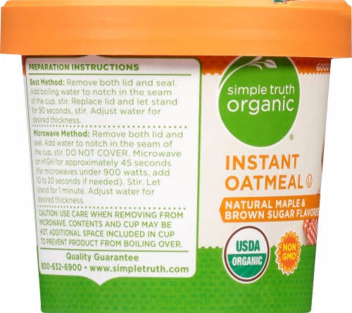 Simple Truth Organic® Natural Maple & Brown Sugar Instant Oatmeal Perspective: left
