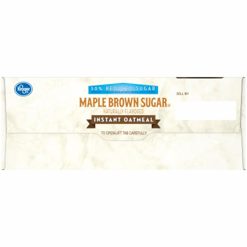 Kroger® Reduced Sugar Maple Brown Sugar Instant Oatmeal Packets Perspective: left