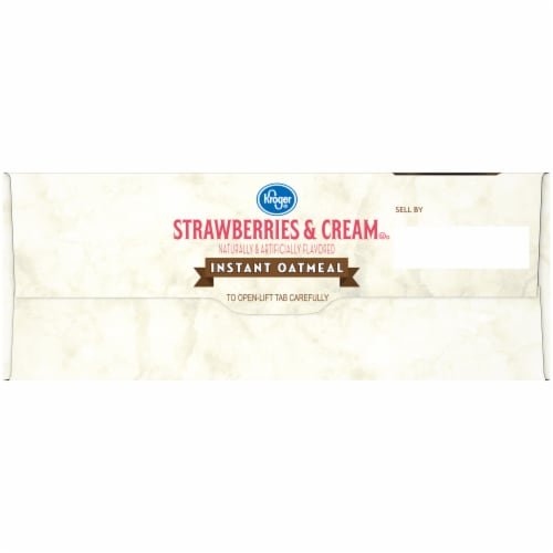 Kroger® Strawberries & Cream Instant Oatmeal Packets Perspective: left