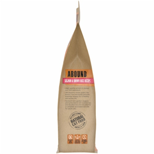 Abound™ Salmon & Brown Rice Recipe Adult Cat Food Perspective: left