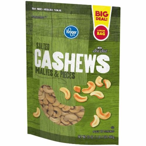 Kroger® Salted Cashews Halves & Pieces Perspective: left