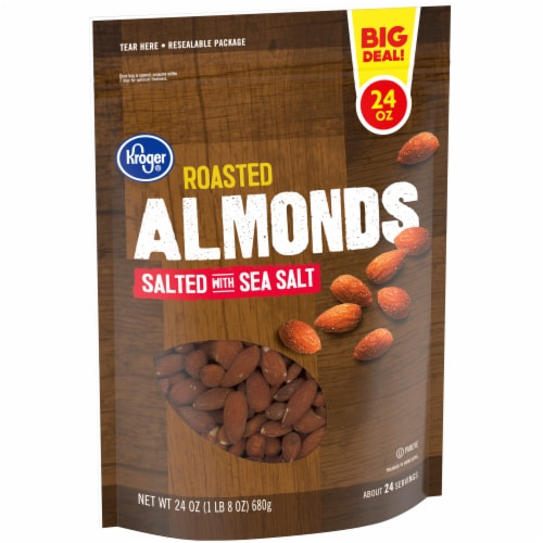 Kroger® Salted & Roasted Almonds Perspective: left