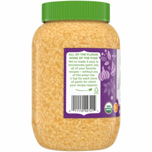 Simple Truth Organic™ Minced Garlic Jar Perspective: left