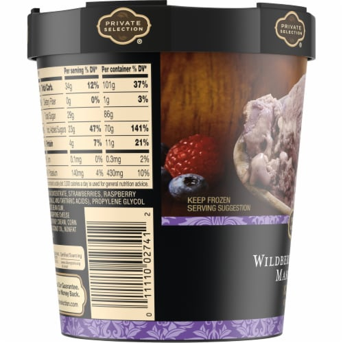 Private Selection® Wildberry Lavender Mascarpone Ice Cream Perspective: left